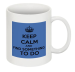 find something to do mug